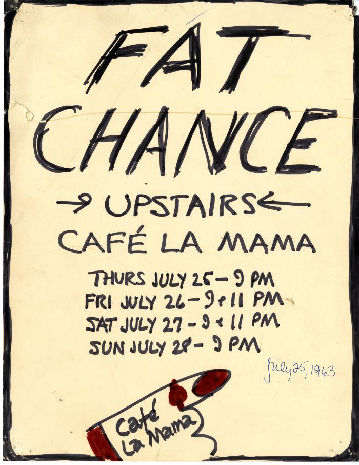"""Poster for """"Fat Chance"""" (Front)"""