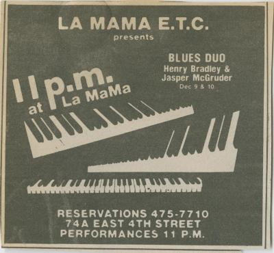 Promotional Materials: Blues Duo (1983)