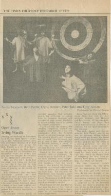 """""""XXXXX: Open Space,"""" Irving Wardle, The Times, December 17, 1970"""