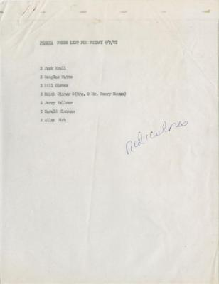 """Press Lists and Listing: """"Persia, A Desert Cheapie"""" (1972)"""