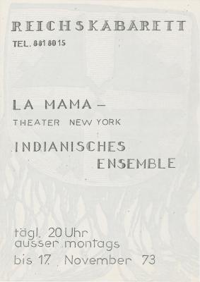 """Promotional Flyer: """"Coon Tracks the Coyote"""" And """"Foghorn"""" (Berlin)"""