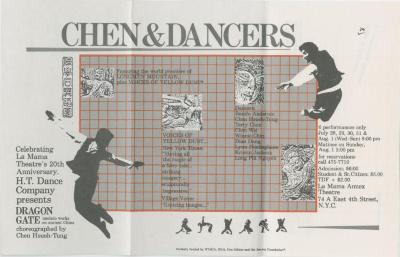 Promotional Material and Programs: Hsueh-Tung Chen and Dancers (1978-1985)