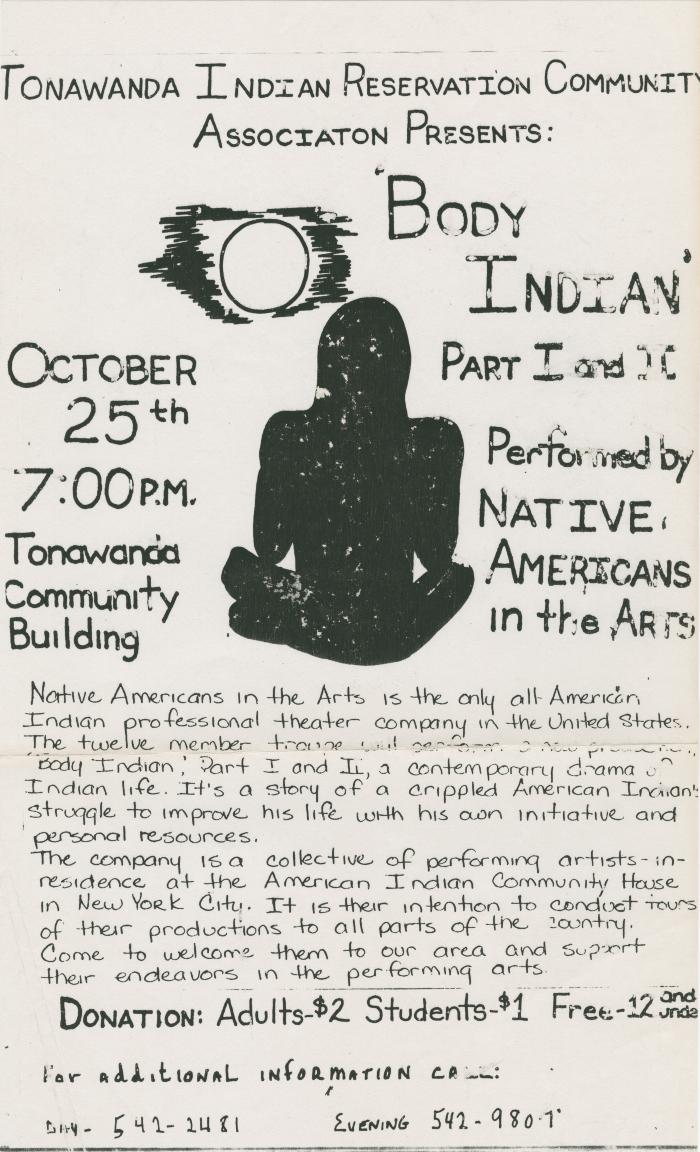 Programs and Promotional Material: Native American Theatre Ensemble