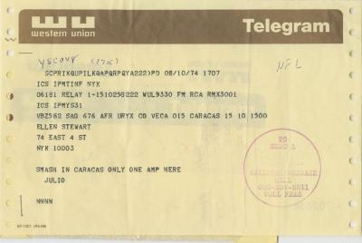 Letters and Financial Records: Jarboro Company in Venezuela (1974)