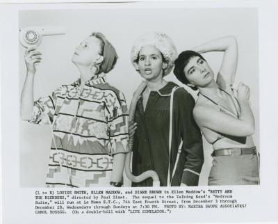 """Promotional Photographs: """"Betty and the Blenders"""" and """"Life Simulator"""" (1986)"""