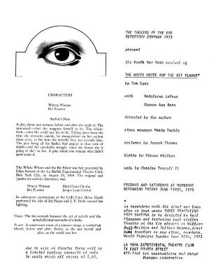 """Promotional Flyer: """"The White Whore and the Bit Player"""" (1973c)"""