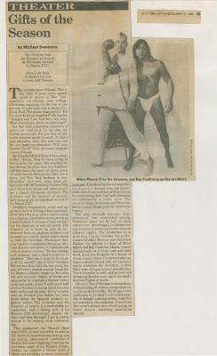 """Press: """"The Architect and the Emperor of Assyria"""" (1986)"""