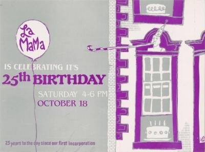 Promotional Material: La MaMa's 25th Birthday (1986)