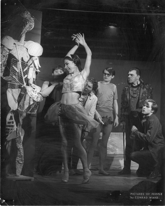 """Production Photograph: """"The Circus"""" (Cast + prop)"""