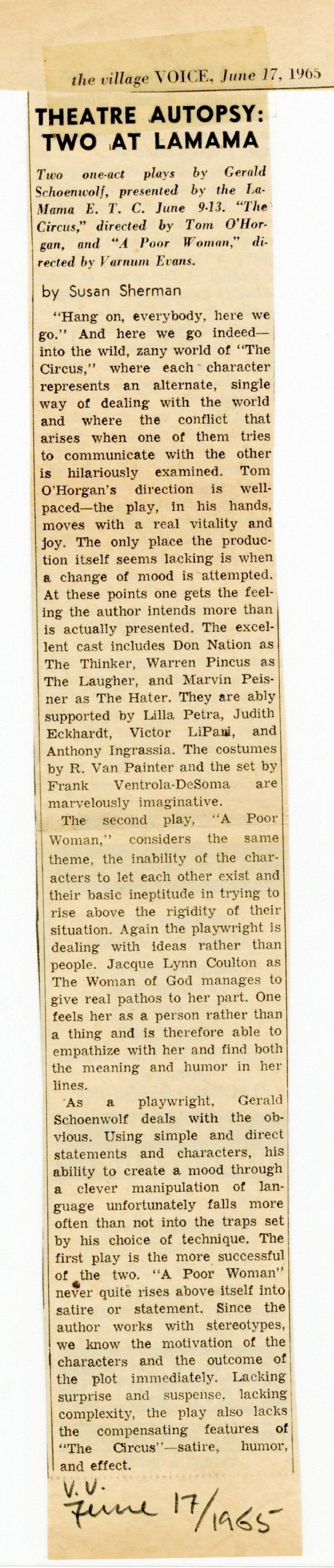 """Review: """"The Circus"""" and """"A Poor Woman"""""""