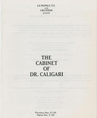 """Show File: """"The Cabinet of Dr. Caligari"""" (1987)"""