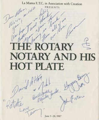 """Show File: """"The Rotary Notary and His Hot Plate"""" (1987)"""
