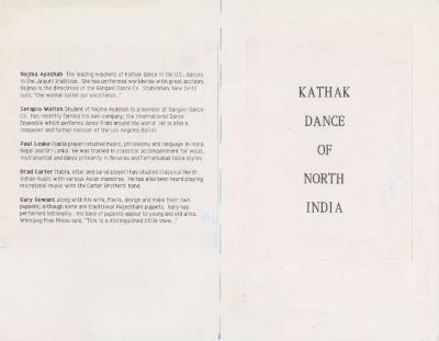 """Show File: """"Kathak Dance of North India"""" (1987)"""
