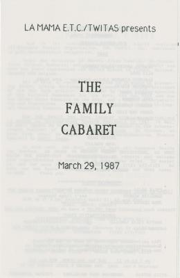 """Show File: """"The Family Cabaret"""" (1987)"""