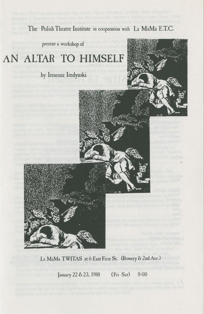 "Show File: ""An Altar to Himself"" (1988)"