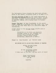 """Promotional Flyer: """"Renard"""" and """"The Only Jealousy of Emer"""" (1970b)"""