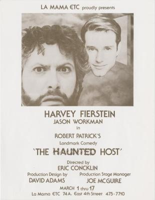 """Promotional Flyer: """"The Haunted Host"""" (1991)"""