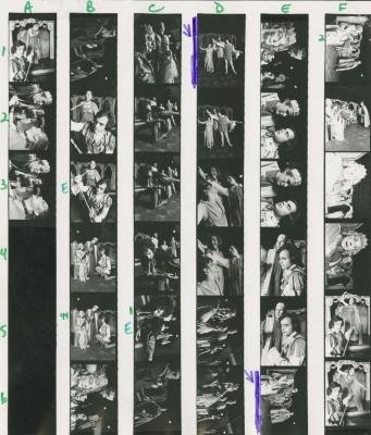 """Contact Sheets: """"The Tragedy of Tragedies, or, the Life and Death of the Great Tom Thumb"""" at Jean Cocteau Theatre (1972)"""