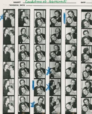 """Contact Sheets: """"Conditions of Agreement"""" (1972)"""