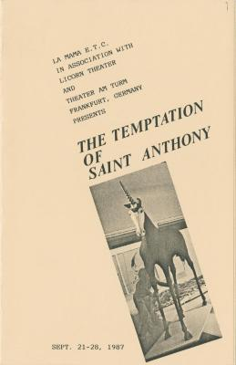 """Programs: """"The Temptations of St. Anthony"""" (1987)"""