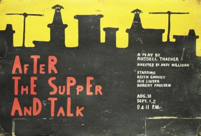 """Poster: """"After the Supper and the Talk"""" (1962)"""