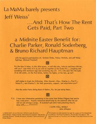 """Program: """"And That's How the Rent Gets Paid, Part II"""" (1973)"""