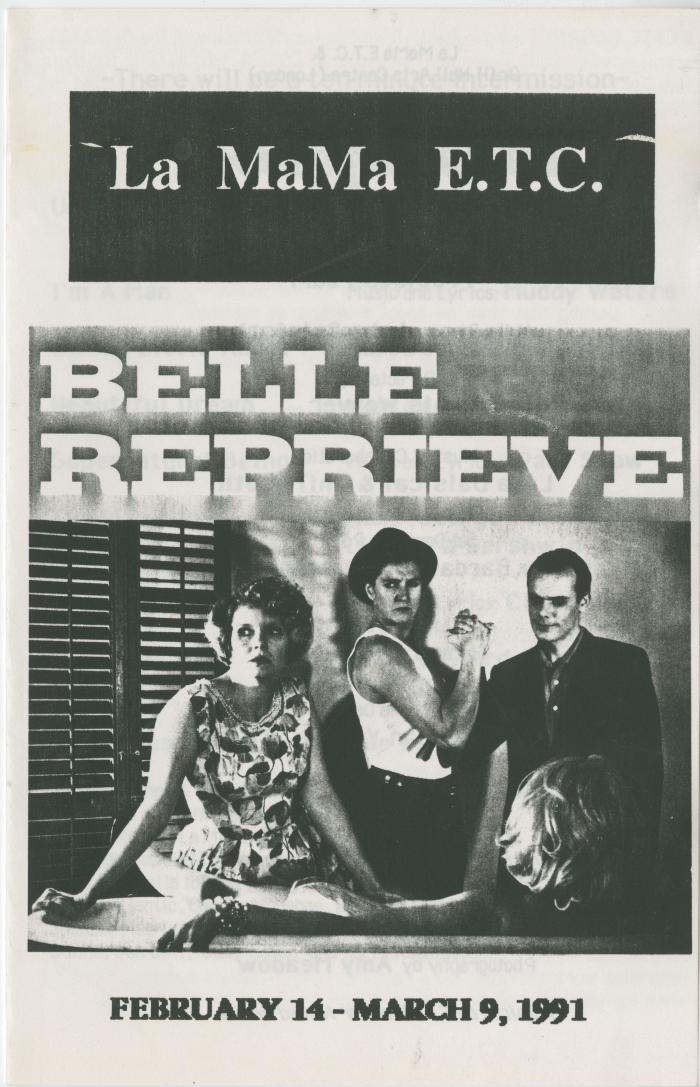 "Program: ""Belle Reprieve"" (1991)"