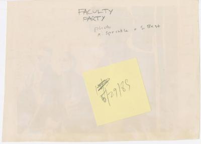 """Photograph: """"Faculty Party"""" (1989)"""