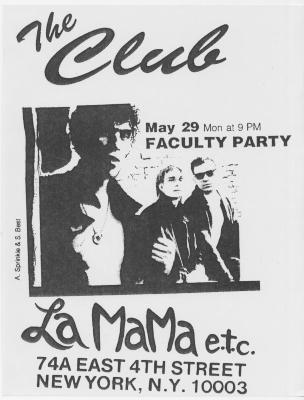 """Flyer: """"Faculty Party"""" (1989)"""