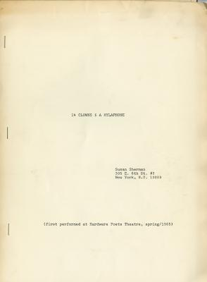 14 Clowns and a Xylaphone Title Page