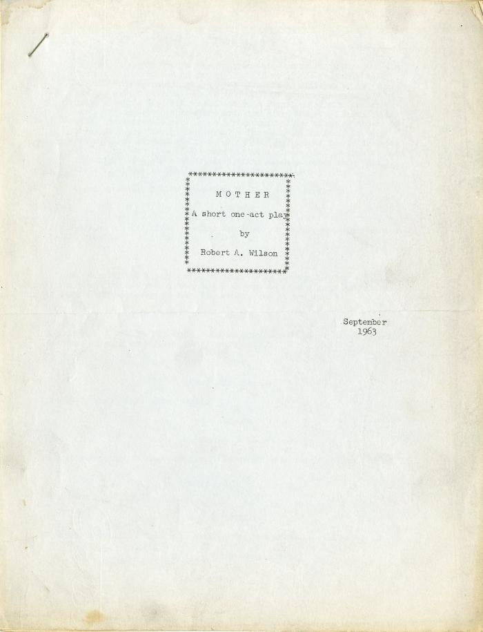 Mother Title Page