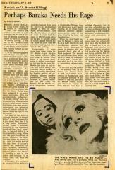"""Clipping: Candy Darling and Hortensia Colorado in """"The White Whore and the Bit Player"""" (1973)"""