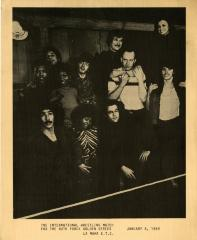 """Photocopied promotional photograph of the cast of """"The International Wrestling Match"""" (1969)"""