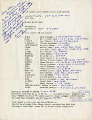 """Cast Contact List: """"Balm in Gilead"""" (1965)"""