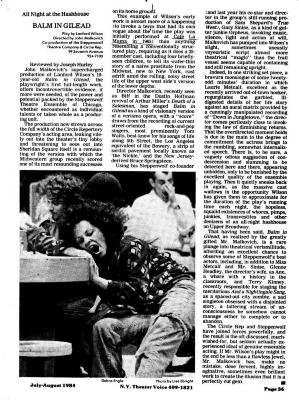 """Review: """"Balm in Gilead"""" (1984)"""