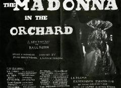 """Flyer for """"The Madonna in the Orchard"""""""