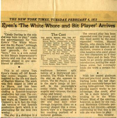 """Review: """"The White Whore and the Bit Player"""" (1973b)"""