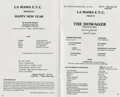 """Program: """"The Dowager"""" and """"Happy New Year"""" (1978)"""