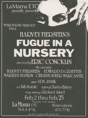 """Promotional Flyer: """"Fugue in a Nursery"""" (1979)"""