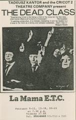 """Promotional Flyer: """"The Dead Class"""" (1979)"""