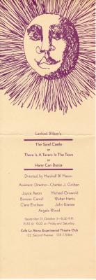 """Program for """"The Sand Castle or There is a Tavern in the Town or Harry Can Dance"""" (1965)"""