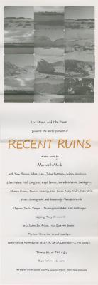 """Poster for """"Recent Ruins"""" (1979)"""