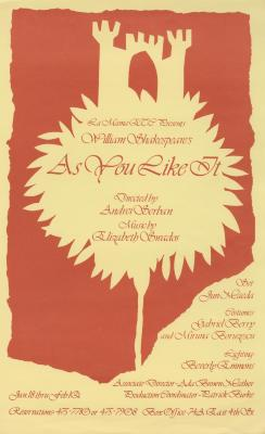 """Promotional Flyer: """"As You Like It"""" (1980)"""
