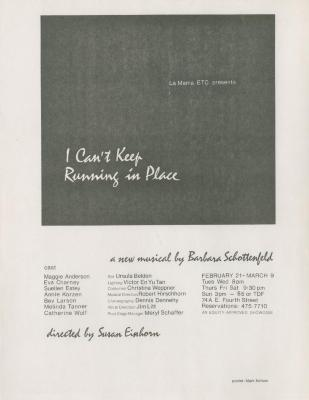 """Promotional Material: """"I Can't Keep Running in Place"""" (1980)"""