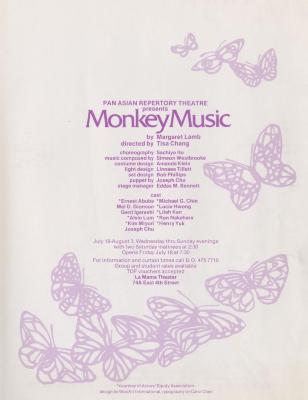 """Flyers for """"Monkey Music"""" (1980) (1)"""