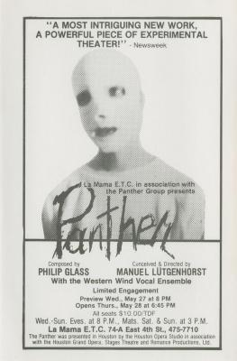 """Promotional Flyer: """"The Panther"""" (1981)"""