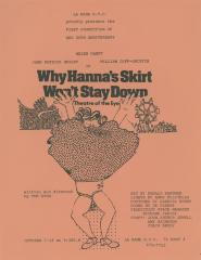 """Promotional Flyer: """"Why Hanna's Skirt Won't Stay Down"""" (1981)"""