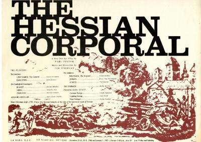 """Poster for """"The Hessian Corporal"""""""