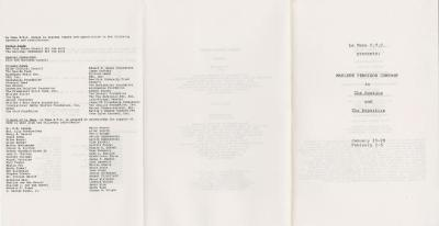 """Program: """"'The Routine' and 'The Departure'"""" (1984)"""