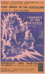 """Small Poster: """"Conquest of the Universe"""" (Date Unknown)"""